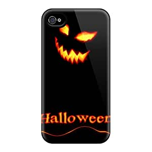 Hot FDf3204JjZY Case Cover Protector For Iphone 4/4s- Halloween Smile