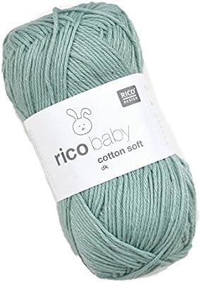 Rico Baby Cotton Soft DK Fb. 050 Salvia, suave bebé lana, hilo de ...