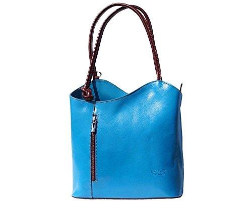 Florence Leather 207 - Bolso mochila  para mujer azul azul claro