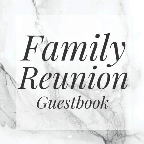 Family Reunion Guestbook: Grey Gray Marble Guest Event