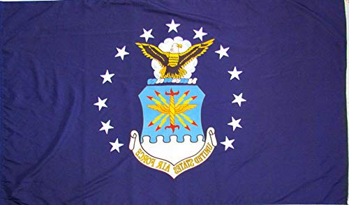 Mikash 2x3 US Air Force Emblem Flag 2x3 Nylon Polyester Twill Banner House | Model FLG - 3554