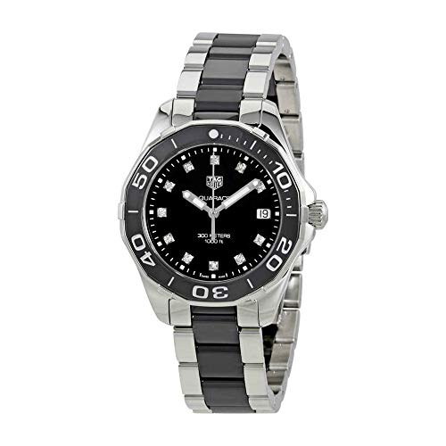 Tag Heuer Aquaracer Black Dial Diamond Ladies Watch WAY131C.BA0913