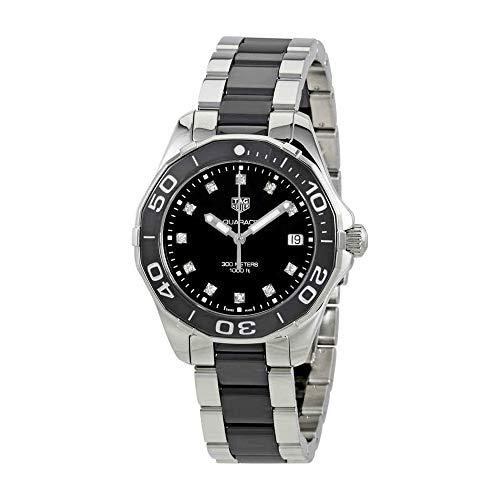 (Tag Heuer Aquaracer Black Dial Diamond Ladies Watch WAY131C.BA0913 )
