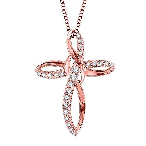 Diamond 10k Gold Necklace - 6