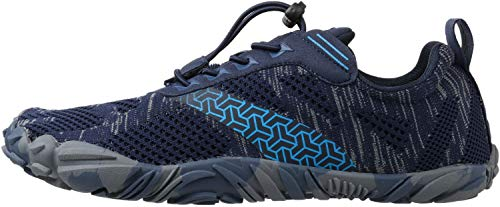 WHITIN Men's Cross-Trainer | Barefoot & Minimalist Shoe | Zero Drop | Wide Toe Box | Five Fingers | Gym Fitness Workout Trail Running | Male Blue | Size 8 by WHITIN (Image #2)
