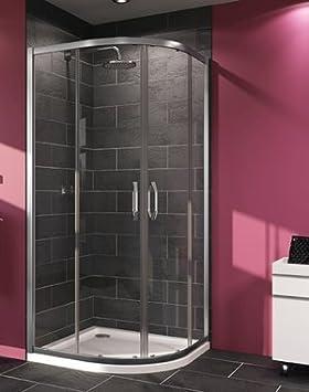 Mampara de ducha Aqua 2 en 1/4 de Círculo de puertas correderas ...