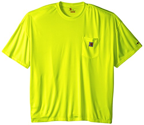 (Carhartt Men's Big & Tall High Visibility Force Color Enhanced Short Sleeve Tee,Brite Lime,XXXX-Large)