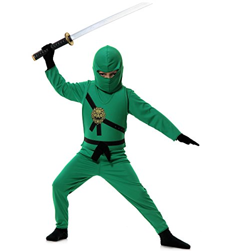 Ninja Avenger Child Costume Green - X-Small