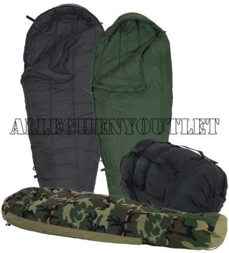 Us Military 4 Piece Modular Sleeping Bag Sleep System W/gortex Bivy - Excellent