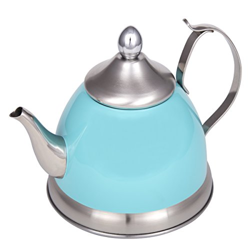 Creative Home 77073 1.0 Qt. Nobili-Tea Stainless Steel Tea K