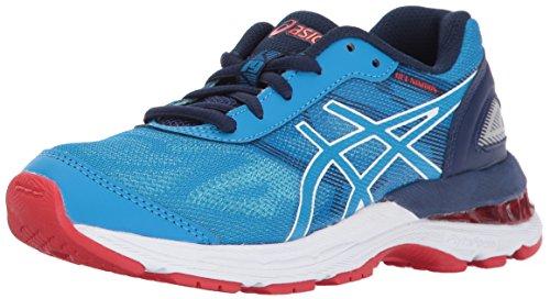 Asics Unisex Kids Gel Nimbus 19 Gs Running Shoe  Diva Blue White Indigo Blue  2 Medium Us Big Kid