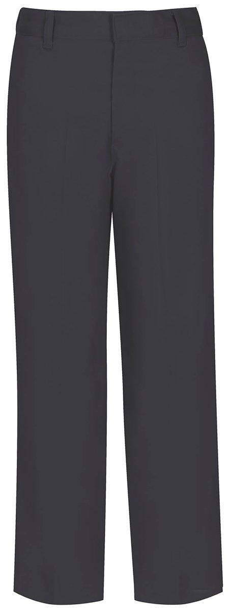 Classroom Uniforms 50363 Boy's Flat Front Pant Husky Charcoal Grey Size 12 Plus