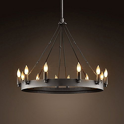 Ladiqi wrought iron chandelier ceiling light industrial vintage ladiqi wrought iron chandelier ceiling light industrial vintage chandelier lighting rustic lighting mozeypictures Images