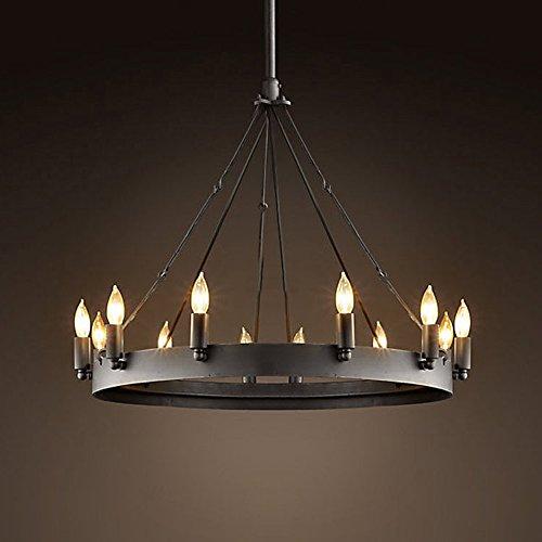 ladiqi wrought iron chandelier ceiling light industrial vintage