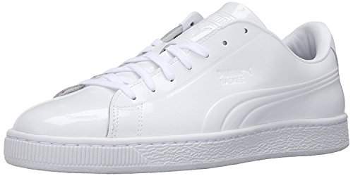 Puma Mens Basket Classic Patent Emboss Fashion Sneaker, White, 42.5 D(M) EU/8.5 D(M) UK