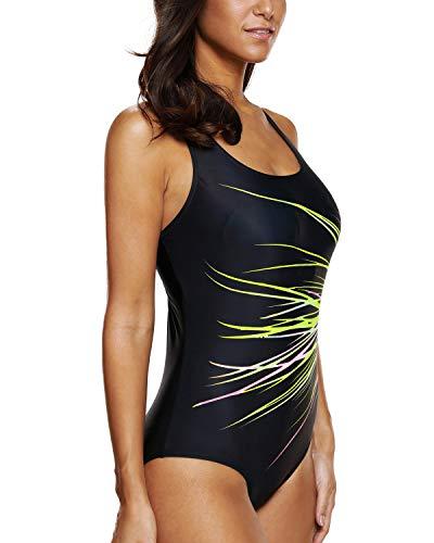 Fluo da Green da nuoto donna bagno bagno Costume intero Costume sportivo da CharmLeaks per costumi da BH7g6x