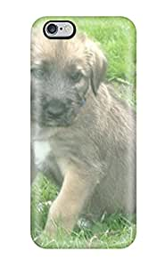 Ultra Slim Fit Hard Walter Holmes Case Cover Specially Made For Iphone 6 Plus- Irish Wolfhound Puppies