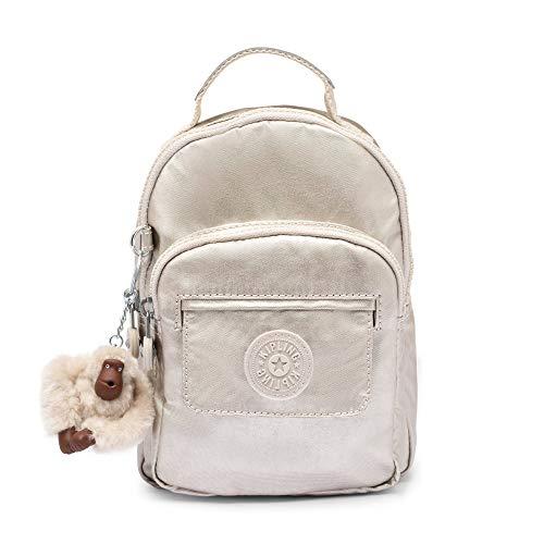 Kipling Alber 3-In-1 Convertible Mini Bag Backpack Cloud Grey Metallic