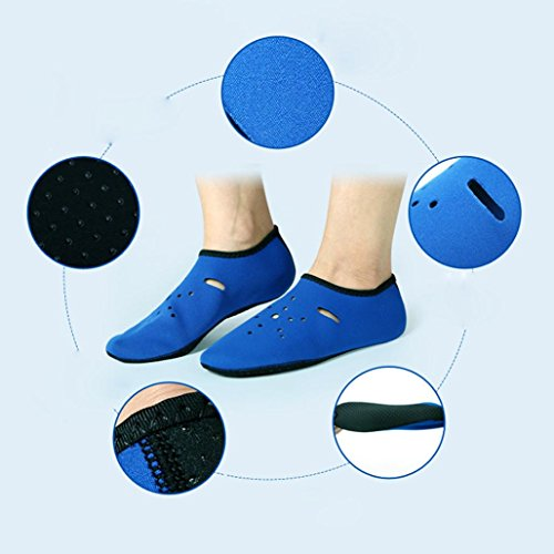 Yoga Quick Socks Shoes Sport Dry Pool Surf Water Skin Barefoot Shoes Aqua Water Blue Unisex Inkach qwvapgp