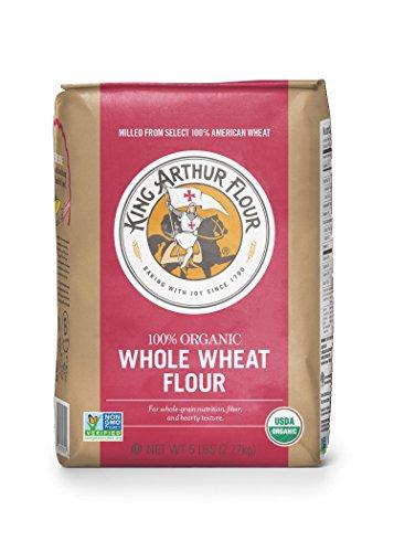 King Arthur Flour 100% s Organic Premium Whole Wheat Flour, 5 Pound -