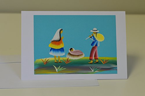 Nativity Christmas Scene Card (Hand-painted Christmas Card,