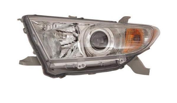 For 2011-2013 Toyota Highlander Passenger Side Headlight Lamp RH USA Built