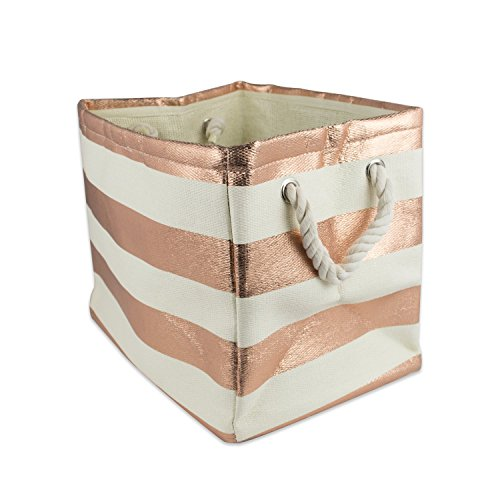 DII, Woven Paper Storage Bin, Collapsible, 11x10x9, Rugby Copper