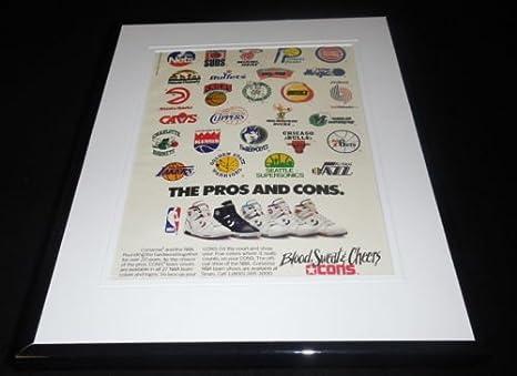 91f119422df4c 1989 Converse/NBA Framed 11x14 ORIGINAL Vintage Advertisement at ...