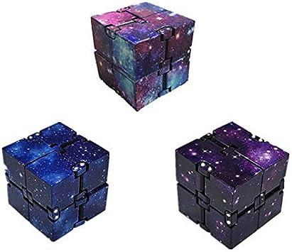 Mini cubo Infinity in ABS per alleviare Lo Stress Agitazione Anti Stress per Bambini Giocattolo edc per Adulti LAOZI Cubo con Punta delle Dita