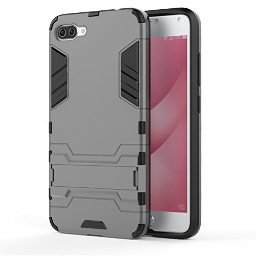 TPU/PC Shockproof Cover Case For Zenfone Max (Grey) - 4
