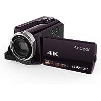 Andoer 4K HD Video Camcorder w/IR Night Vision (Coffe Purple)
