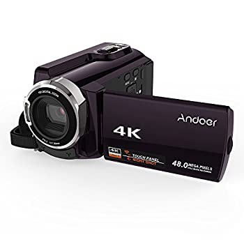 Image of Camcorders Andoer HDV-534K WiFi Digital Video Camera 4K 48MP Full HD with 3 inch Capacitive Touchscreen and IR Infrared Night Sight Support 16X Zoom Face Detect