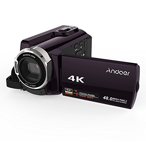 Andoer HDV-534K WiFi Digital Video Camera 4K 48MP Full HD with 3 inch Capacitive Touchscreen and IR Infrared Night Sight Support 16X Zoom Face Detect in USA