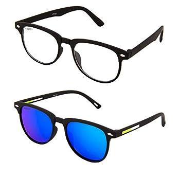 ADDON EYE WEAR Combo Mirrored Flat Unisex Sunglasses – (NV 101)