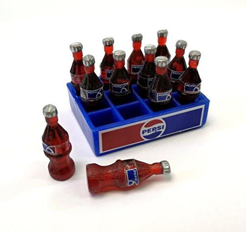 The Best Buy Dollhouse Miniature Food Drink 12 Pepsi Good Standing Bottles