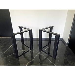 amazon com polished stainless chrome table legs rectangular rh amazon com