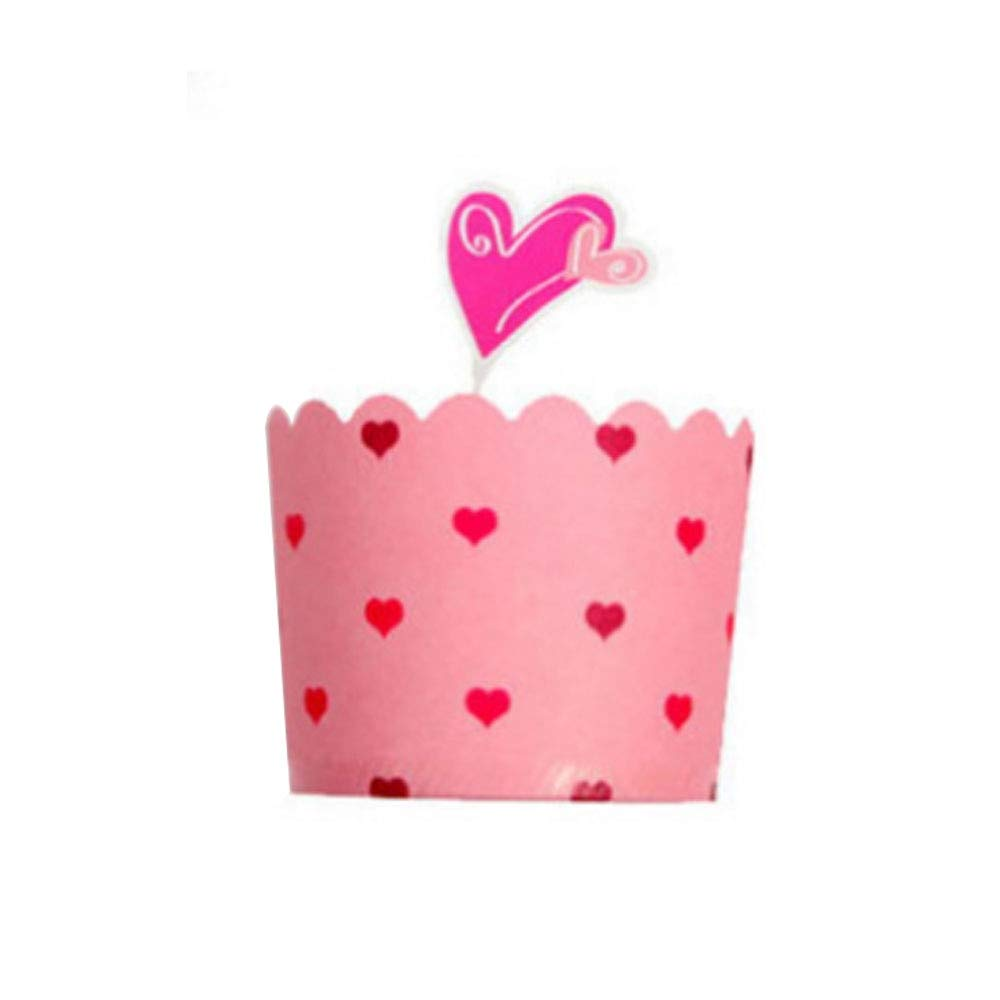 1 lot 25Pcs/Set Cute Paper Cake Cupcake Liner with Inserts Card Baking Muffin Box Case Party Tray Cake Mold Party Wedding Baking Cup