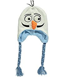 Frozen Olaf Face Hat - ivory/blue, one size