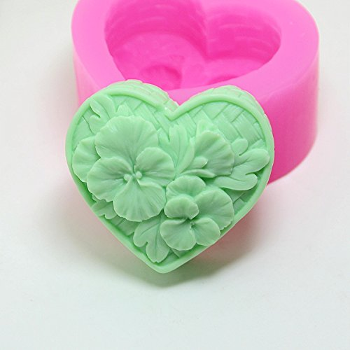 Mold For - Love Shaped Soap Mold Silicone Flower Candy Wholesale - Letters Bites Oven Wall Soap Lead Suppository Brain Moon Tulumba Yellow Bars Bows Bracelet Cream Eggs Little Tooth Pearl Cover -