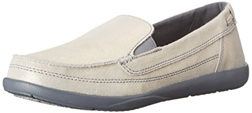Crocs Women's Walu Shimmer Leather Loafer