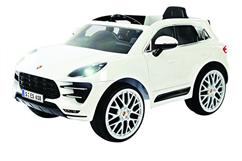 Rollplay Porsche Macan 6V Battery-Operated Ride-On Ride On, White