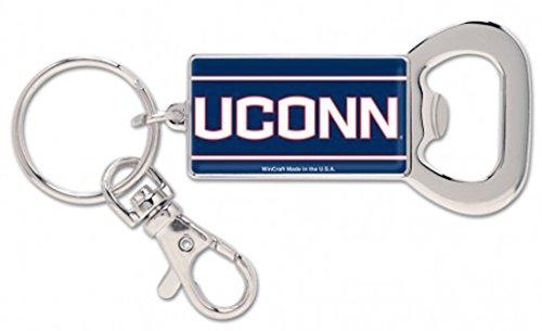 UCONN Huskies Key Ring Gift Set: 1 Premium Bottle Opener and 1 Premium Acrylic Key Ring