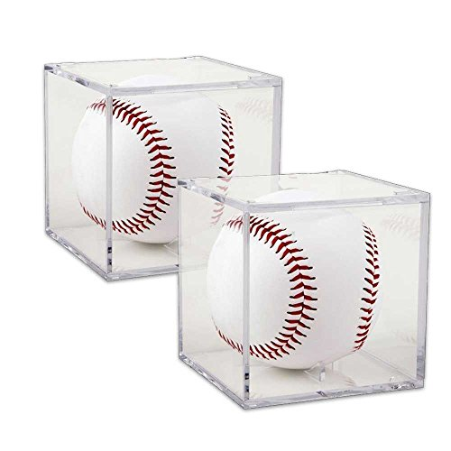 Autograph Display (TrueCraftware - (Set of 2) Grandstand UV Protection Baseball Display with Built-in Cradle)