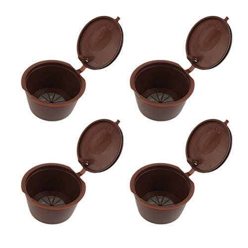 Accreate - Filtro de café Reutilizable para cafeteras Dolce Gusto, Marrón, 4pcs