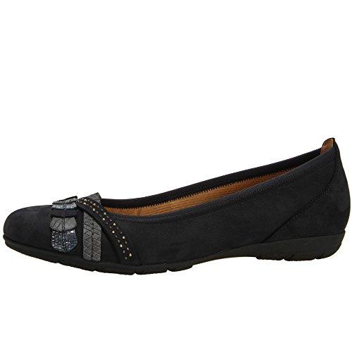 5ffa63b4bb17c Gabor Women's Ashmill Nubuck Ballet Pumps 4 C (M) UK/ 6 B(M) US Nightblue  Nubuck - Buy Online in Oman.   Shoes Products in Oman - See Prices, ...