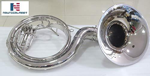 "NauticalMart Sousaphone Bb Big Bell 25"" Nickel"