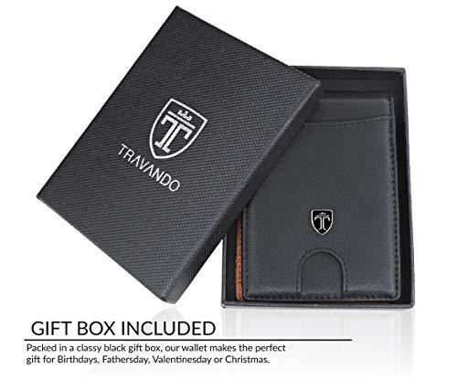 Money Clip Wallet HOUSTON Mens Wallet RFID Blocking Wallet - Minimalist Mini Slim Wallets Bifold for Men with Gift 7