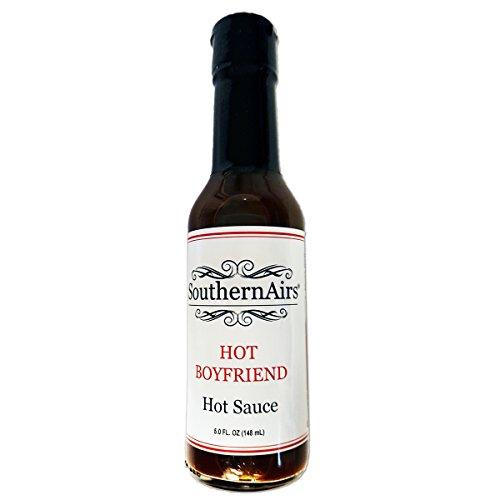 HOT BOYFRIEND Hot Sauce/smoked jalapenos, cayenne chilis and habaneros/Gift Favorite / 5 fl. oz.