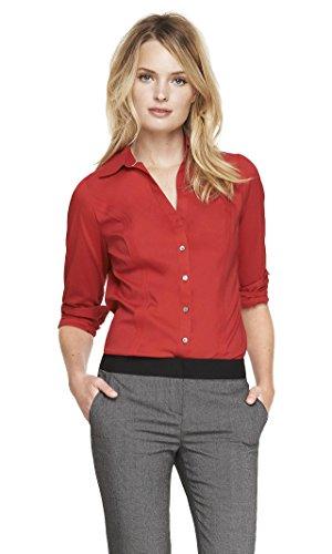 Express Women's The Original Long Sleeve Essential Shirt, Mars Red 297, XS]()