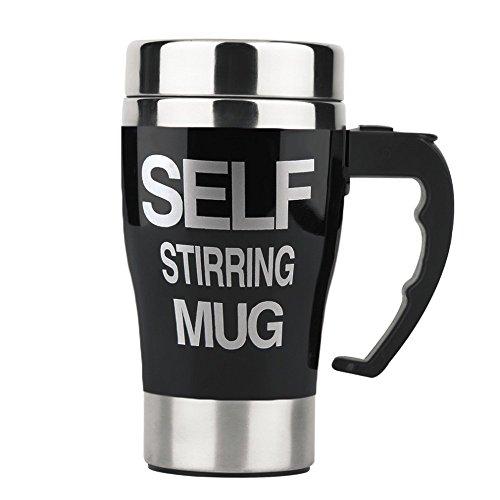Self Stirring Coffee Mug Black - 4